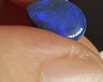 2.11ct Pear 11 x 7 x 3mm Blue Genuine Lightning Ridge Australian Black Opal Cabochon