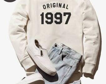 21st birthday gift shirt graphic sweatshirt birthday sweater 1997 shirt funny gift present women sweatshirt men sweater teen sweatshirt