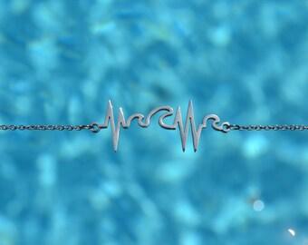 Wave Heartbeat Necklace