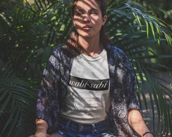 Wabi-Sabi Short sleeve t-shirt, Wabi-Sabi shirt, Wabi Sabi tshirt, motivational tee, unisex, imperfection, beauty, mediation