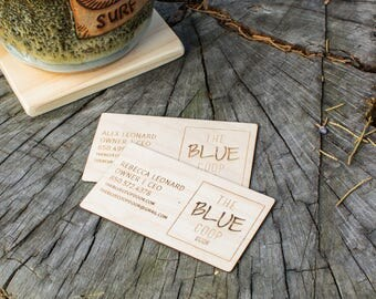 Custom Wood Business Cards, wood business card, custom business card, realtor business card, unique cards, personalized business card, fanc