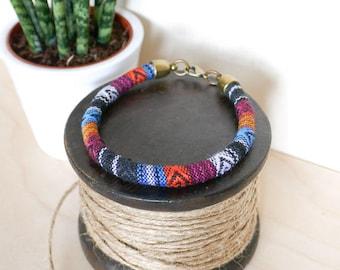 Multi Baja Bangle; travel, wanderlust, gift her him, summer, tribal, aztec, green, festival, bracelet, surf, friendship, jewellery, jewelry