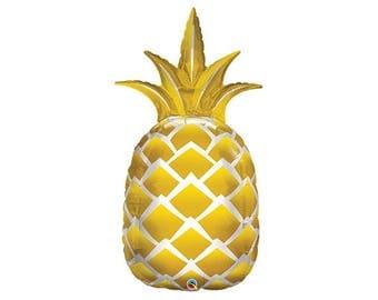 """44"""" Gold pineapple Party Balloons / Luau Party / Luau Theme / Pineapple theme/"""