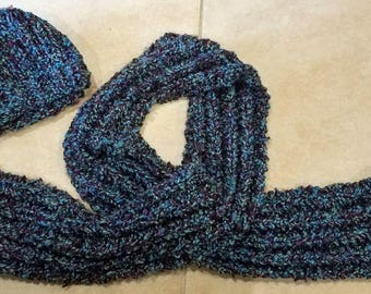 Cozy Hat and Scarf Hand Knit from Super Bulky Yarn