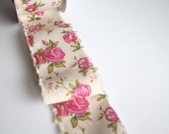 Vintage style burlap ribbon frayed edge 70mm x 1 metre