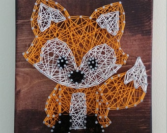 Fox String Art Etsy