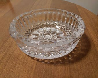 Crystal Ashtray/ vintage