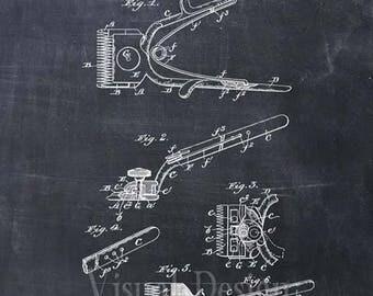 Barber's Hair Clipper Patent Print - Patent Art Print - Patent Poster - Barber Art - Barbershop - Barber Gift - Barber Print