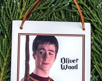 Harry Potter Christmas Ornament: Oliver Wood Square Ceramic Ornament