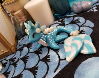 Custom Aquatic Dragon - Mermaid Dragon - Blue Dragon