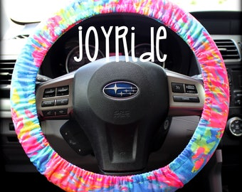 Steering Wheel Cover Lilly Pulitzer Palm Beach Coral Fabric Fully lined with Grip Tight Designer Car Accessories Coral For Girls Woman