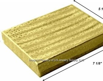 "100 Gold Foil Cotton Filled Jewelry Packaging Craft Gift 2 Piece Boxes 7 1/8"" x 5 1/8"" x 1"""