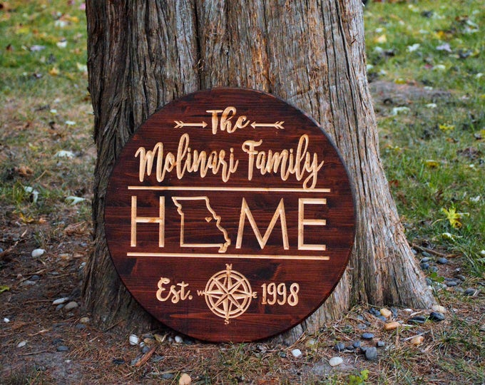 Couples Gift Last Name Personalized Wood Sign Custom Wood Signs Unique Wedding Gifts for Couples Wood Anniversary Gifts 5 Year Anniversary
