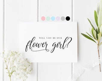 Will You Be Our Flower Girl, Card For Flower Girl, Flower Girl Proposal Card, Flower Girl Request Card, Be My Flower Girl, Flower Girl Card