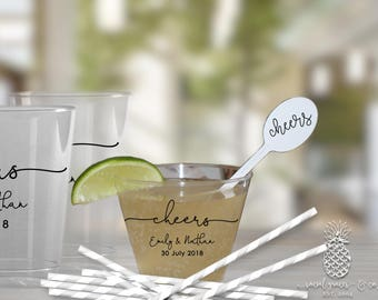 Wedding Cheers   Customizable Disposable Party Cups   Weddings, Engagement Bridal Parties or Shower   social graces and Co