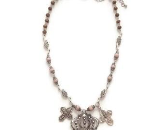 Silver Crown Pendant - Silver Crown Necklace - Crown Pendant Necklace - Vintage Silver Necklace - Vintage Silver Pendant - Vintage Necklace