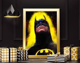 Batman. The Dark Knight of Gotham City. Man cave art.