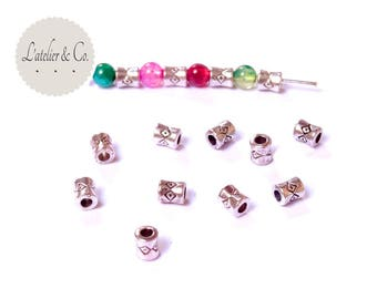 50 beads spacer 4mm antique silver spacer beads jewelry