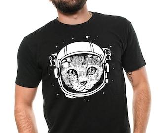 Astronaut Cat T-shirt Space Cat Tee shirt astro Cat Birthday T-shirt Cat Lover Pet Tee Shirt