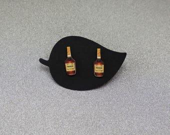 Hennessy Bottle Earrings. Hennessy. Cognac Earrings. VSOP Cognac Earrings. VSOP. Hennything Is Possible. Henny. Liquor Earrings. Bottle.