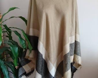Blanket poncho, Blanket poncho women, turtle neck poncho, winter gift,