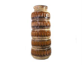 Vintage West German Floor Vase by Scheurich in Tundra Design, Scheurich Vase, West German Pottery, Mid Century Modern, Mid Century Vase