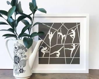 Ballet Art / Ballerina Art / Ballet Dancer Art / Ballerina Wall Art / Dancer Art / Dancer Wall Art / Ballet Gift / Dance Gift / Papercut Art