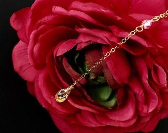 Swarovski Crystal Teardrop Necklace