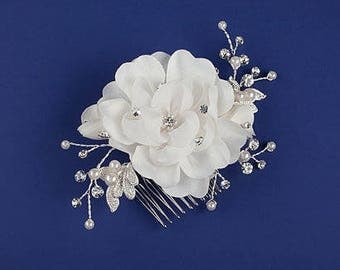 FAST Shipping!!! Ivory Bridal Hair Comb with Fresh Water Pearls, Wedding Hair Comb, Crystal Hair Comb, Swarovski Hair Comb, Hair Comb