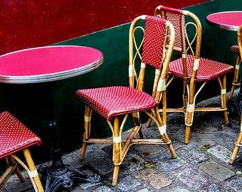 Photographie Fine Art d'une terrasse Parisienne à Paris - Toile Photo de Paris
