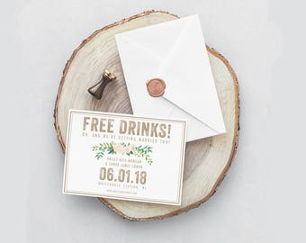 milwaukee save the date cards rustic save the dates