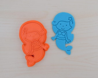 Little Mermaid Cookie Cutter and Stamp Set