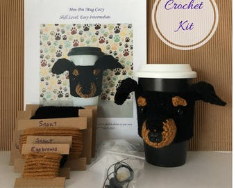 Crochet Kit - Amigurumi Kit - Crochet Starter Kit - Crochet Pattern Dog - Crochet Gifts - Crochet Dog Pattern - Dog Crochet Pattern