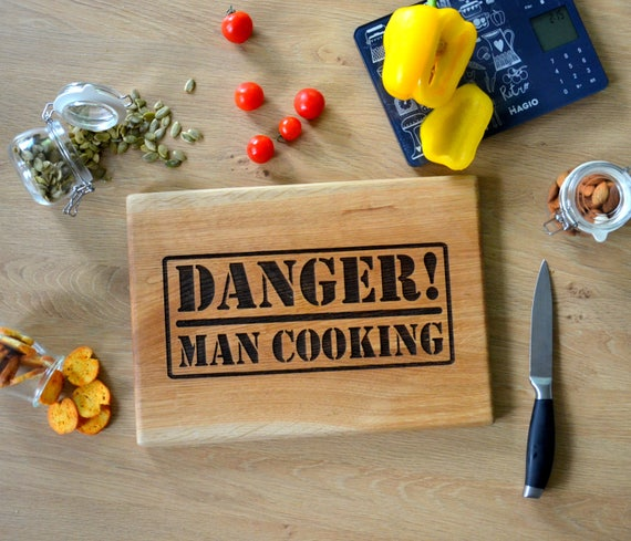 Man kitchen gift custom cutting board bbq barbecue cooking like this item negle Choice Image