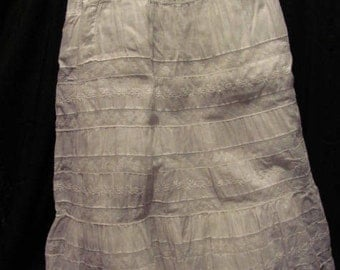 Victorian Petticoat Lace & Embroidered White Cotton Full Flouncy  and Flowing
