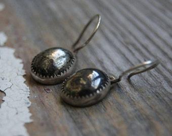 Pyrite Earrings- Dangle Earrings- Fools Gold Earrings