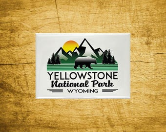 "Magnet Yellowstone National Park Refrigerator 2.125"" x 3.125"" Wyoming"