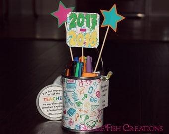 Teacher Gift | Back to School or First Week of School Teacher Supplies Bucket