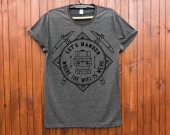 Hiking shirt / Adventure shirt / Camping shirt / Hiking t shirt / Mountain shirt / Adventure tshirt