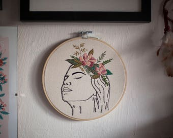 Blossoming thoughts Embroidery - self care- self growth