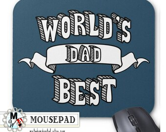 World's Best Dad Mousepad - Navy Father's Day Gift - Gifts for Him Baby Shower - World's Best Father Mousepad - Ready to ship
