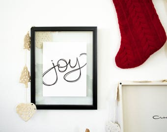Joy Hand Lettered Print