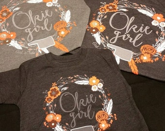 Adult - Okie Girl - OSU Colors