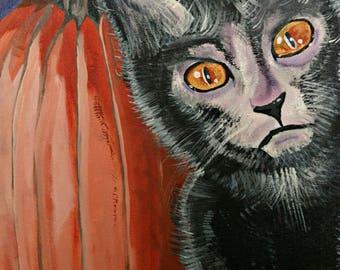 Lykoi's Harvest | Original Canvas Art | Lykoi Cat