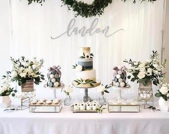 Silver Birthday - Silver Tablecloth - Grey Ombre - Silver Ombre - Ombre Tablecloth - Ombre Birthday - Boy Birthday Tablecloth - Silver Table
