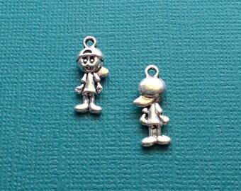 12 Boy Charms Silver - CS2798