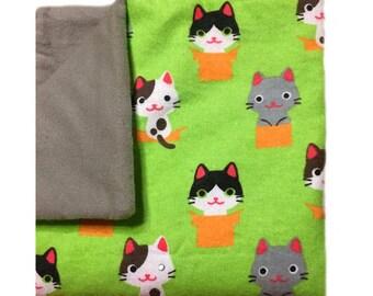 kitten baby blanket, cat blanket baby, cat baby blanket, flannel baby blanket, kitty blanket, kitty baby blanket, kitten nursery, kitty cat