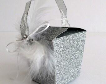 Sparkling Wedding Favors. Silver Wedding Decor. Bath Bomb Favors. Wedding  Guest Favors.
