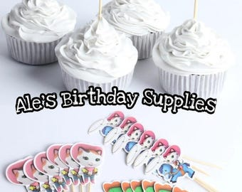 24 Pc Sheriff Callie Cupcake Toppers Picks Double Sided Party Supplies