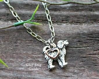 Goldendoodle Necklace, Golden Doodle Jewelry, Labradoodle Necklace